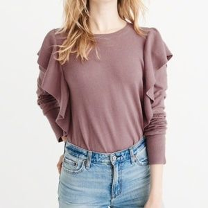 Abercrombie Ruffle Sweater